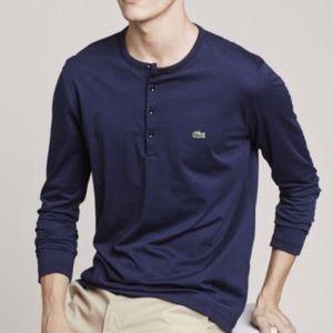 e25e7a3761a280 Lacoste Shirts - Lacoste • Henley Neck Pima Cotton Jersey T-shirt